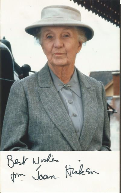 Joan Hickson signed 6 x 4 colour Miss Marple photo