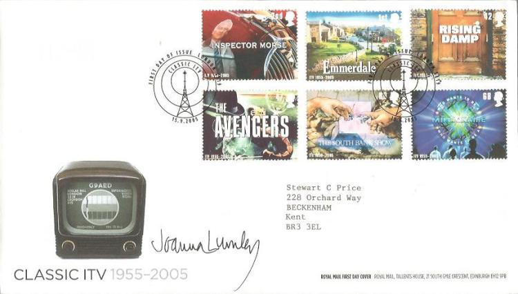 Joanna Lumley signed Classic TV FDC 2003, neat typ