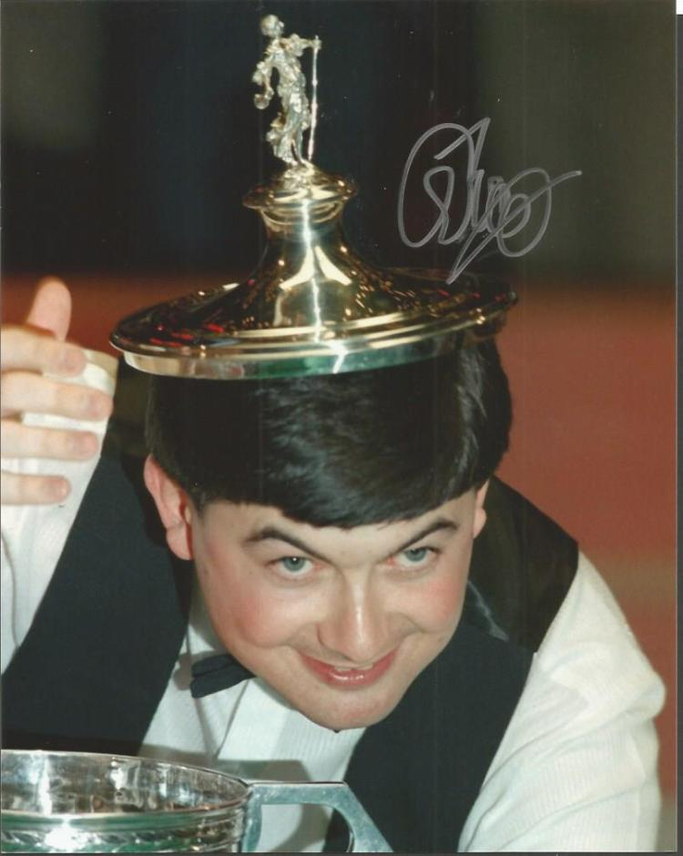 John Parrott signed 10x8 colour photo. Snooker pl