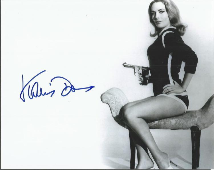 Karin Dor James Bond Girl signed 10x8 b/w photo. G