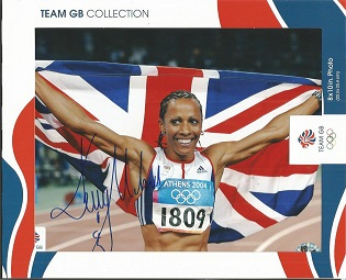 Kelly Holmes autographed photo. Superb colour 8x10