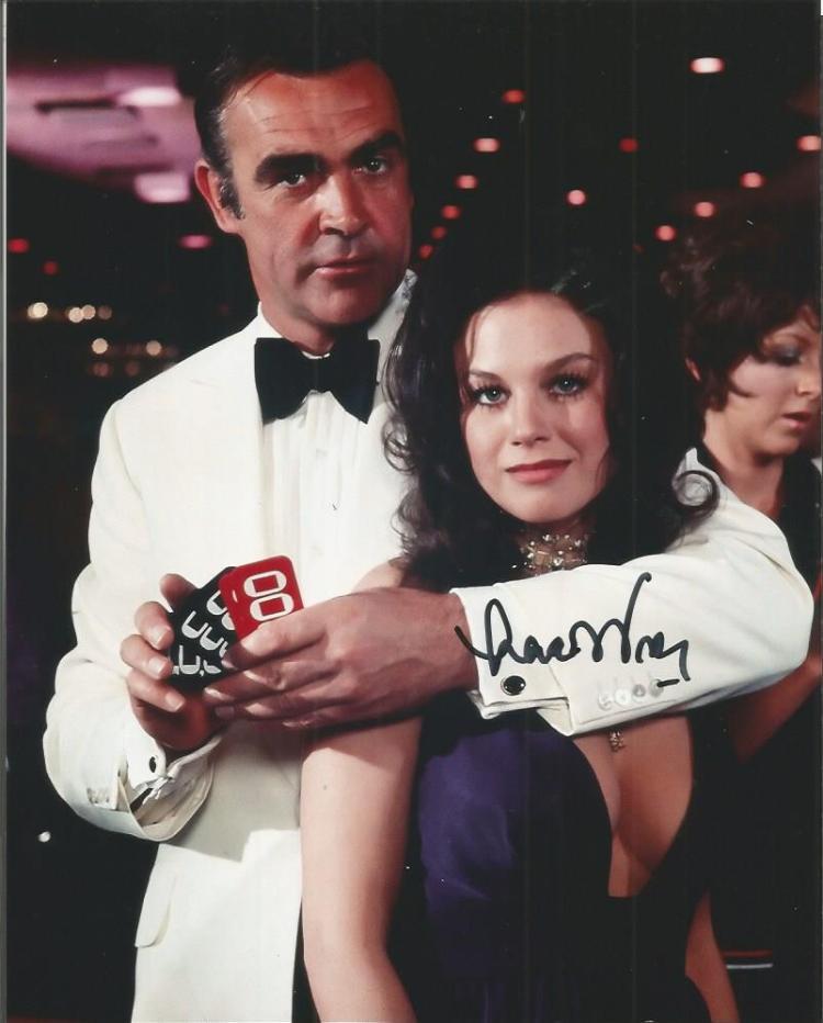 Lana Wood signed 10x8 colour James Bond photo Good