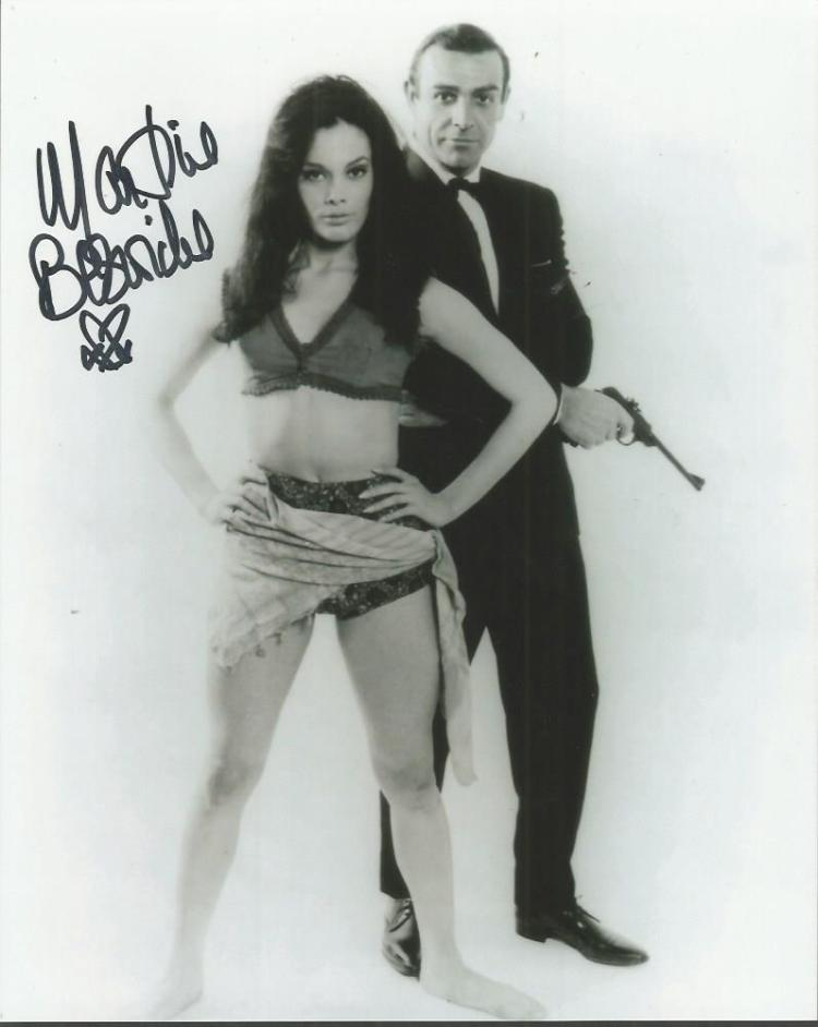Martine Beswick signed 10x8 b/w James Bond photo G