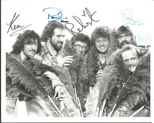 New Vaudeville Band signed 10x8 b/w photo  signed