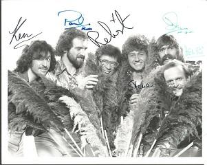 New Vaudeville Band signed 10x8 b/w photo signed