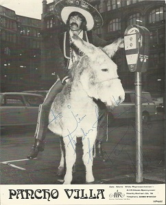 Pancho Villa signed 10x8 b/w photo. Dedicated 197