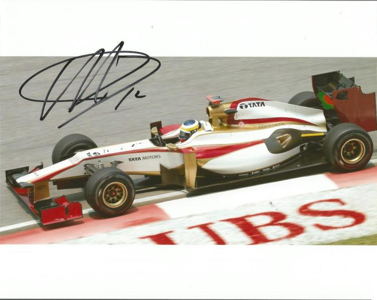 Pedro de la Rosa signed 10x8 colour photo F1 racin