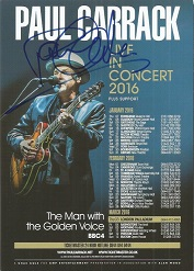 Paul Carrack signed flyer music legend Good condit