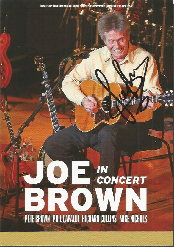 Joe Brown signed flyer music legend Good condition