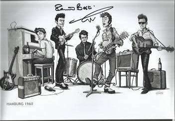 Pete Best former Beatles member signed 12x8 colour