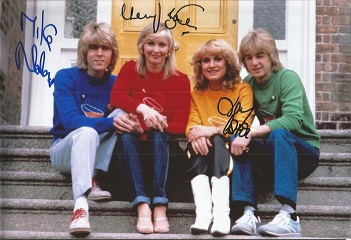 Bucks Fizz signed 12x8 colour photo signed by 3 Go