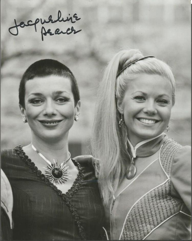 Jacqueline Pearce Dr Who actresssigned 10x8 b/w ph
