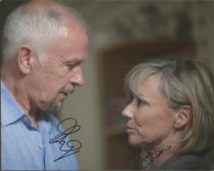 David Essex and Lindsey Coulsenk signed colour 10x