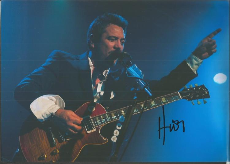 Huey Morgan from Fun Lovin Criminals signed 12x8 c