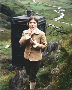 Deborah Watling signed 10x8 colour Dr Who photo Go
