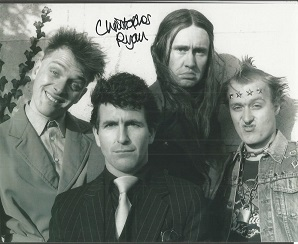 Christopher Ryan signed 10x8 b/w Young Ones photo