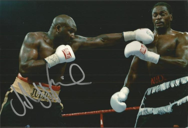 Julius Francis boxing champion signed 12x8 colour