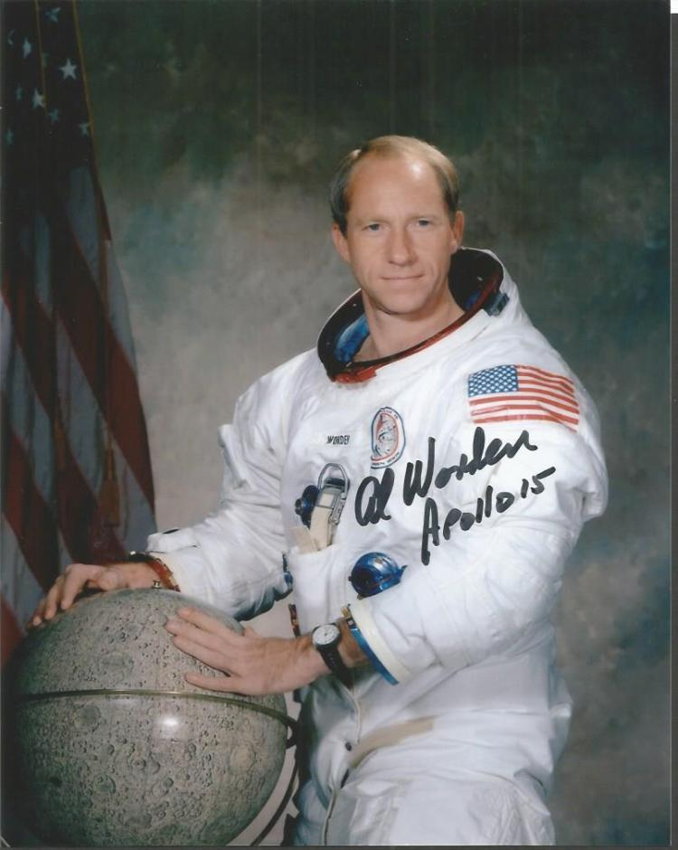 Al Worden Apollo 15 Command Module pilot signed co