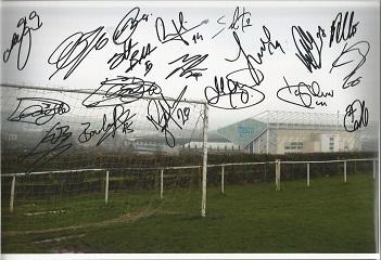 Leeds Utd 1995 signed 12x8 colour photo 17 autogra