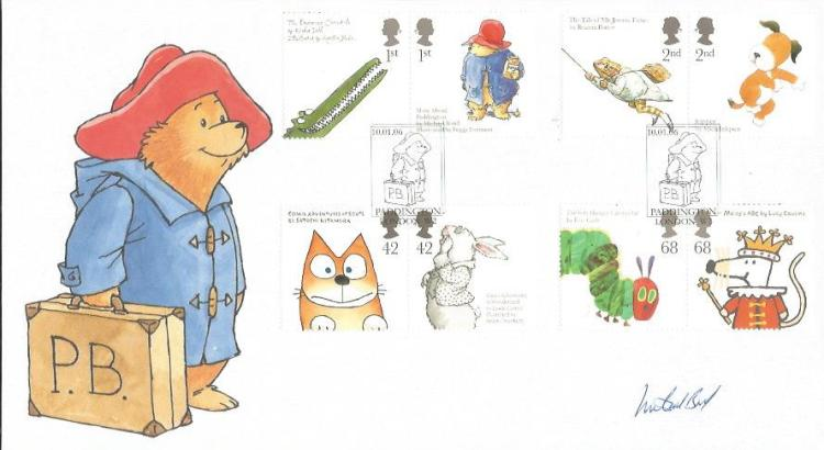 Michael Bond signed Paddington Bear Internetstamps