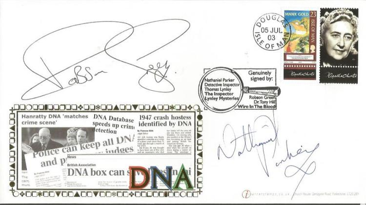 Nathaniel Parker and Robson Greenk signed DNA Inte