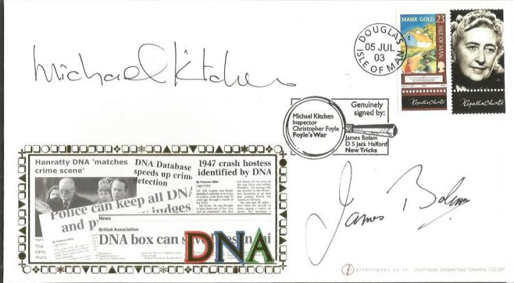 Michael Kitchen and James Bolan signed DNA Interne