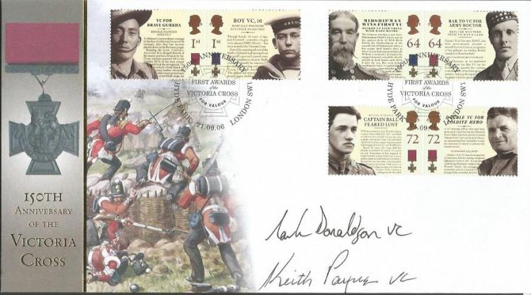 Mark Donaldson and Keith Payne signed 150th anniv