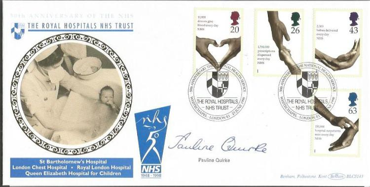 Pauline Quirke signed 50th anniv of the NHS 1998 O