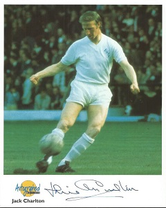 Jack Charlton signed Autographed Editions 10x8 col