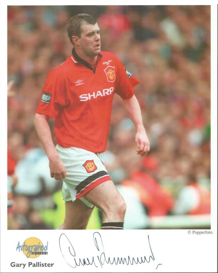 Gary Pallister signed 10x8 colour Autographed Edit