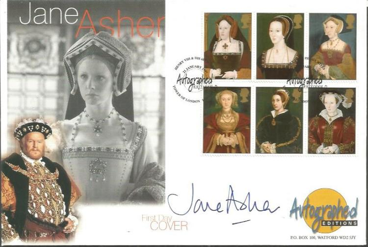 Jane Asher signed large autographed editions FDC G