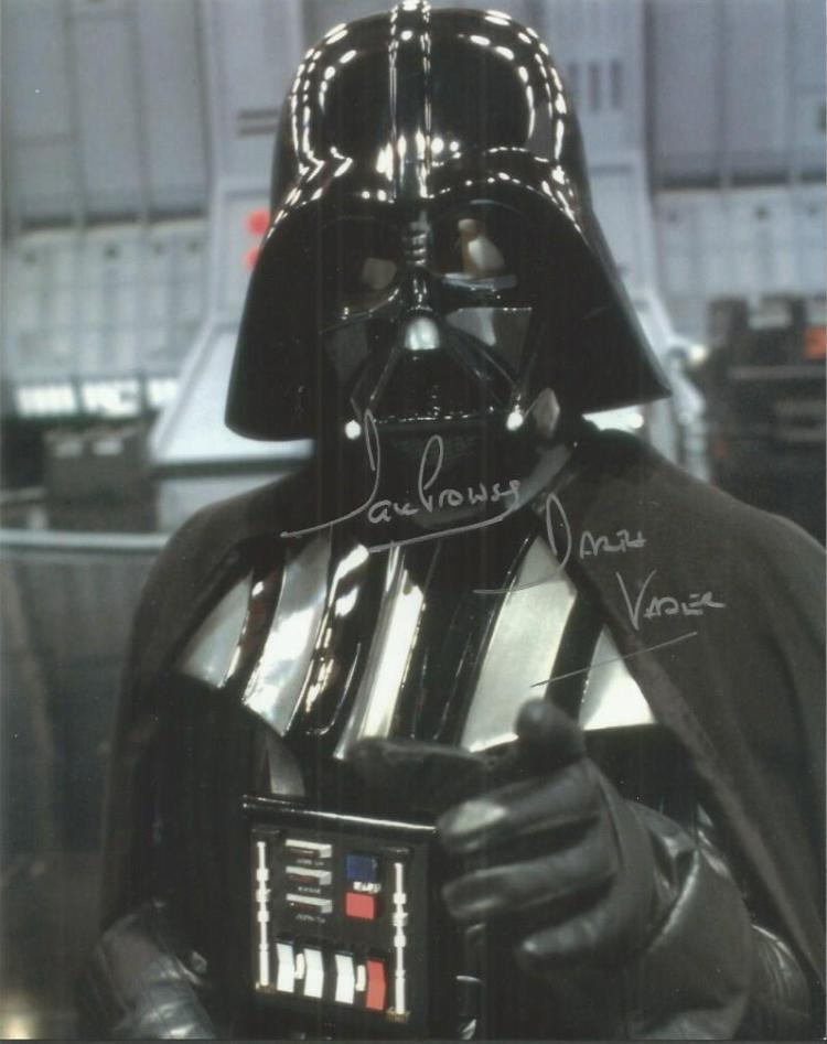 Dave Prowse signed 10x8 colour Darth Vadar photo G