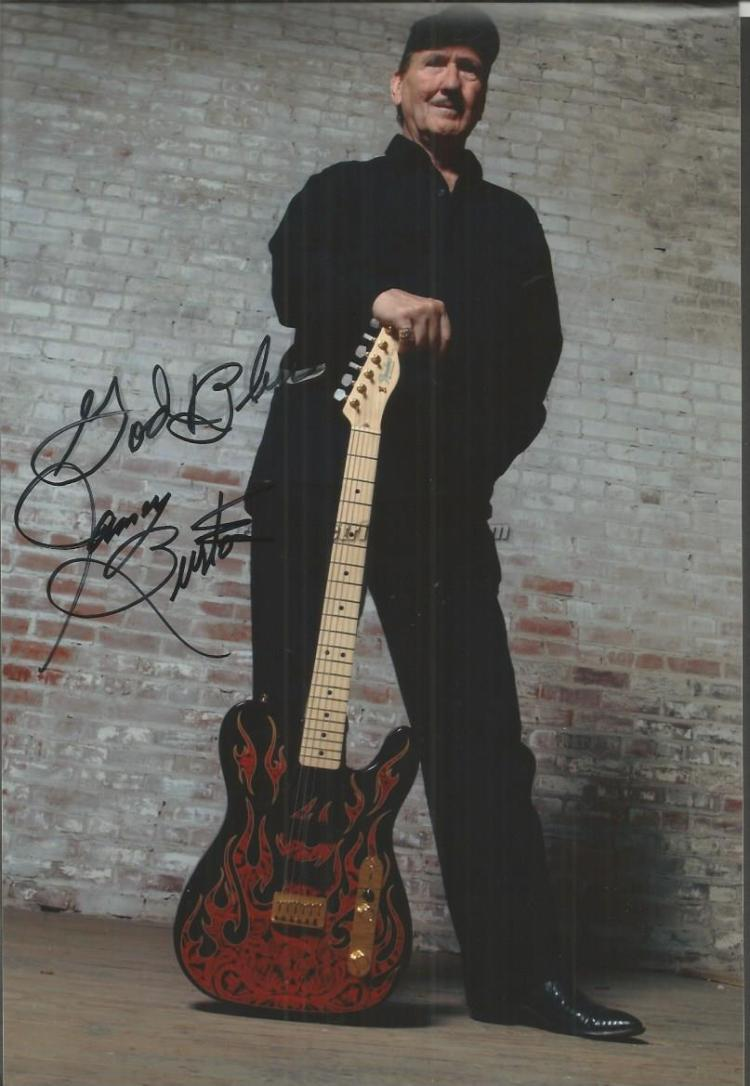 James Burton signed 12x8 colour photo Good conditi