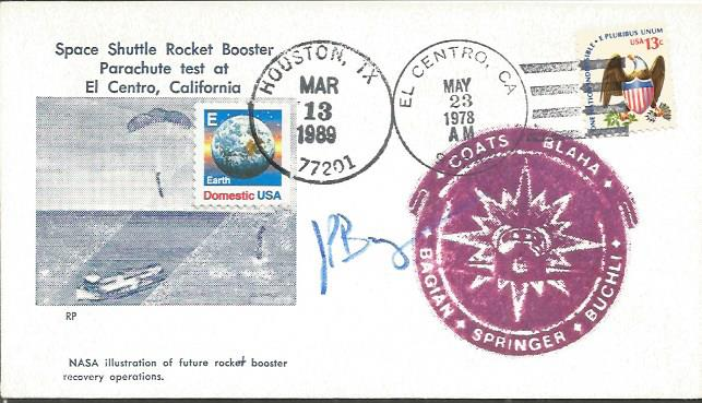 James Bagian space shuttle astronaut signed cover