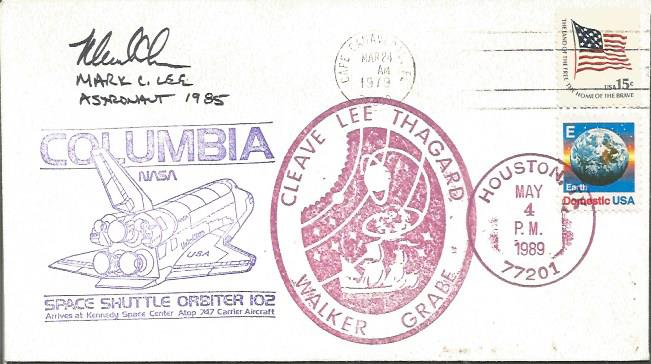 Mark C Lee space shuttle astronaut signed cover Go
