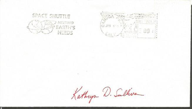 Kathryn D Sullivan space shuttle astronaut signed