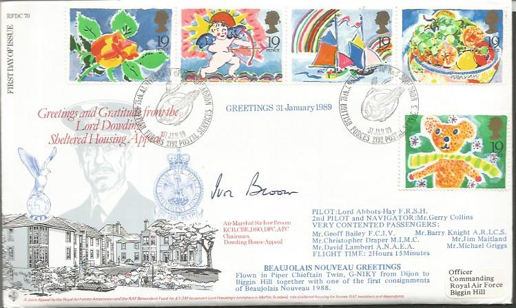 Air Marshal Sir Ivor Broom signed FDC Good conditi