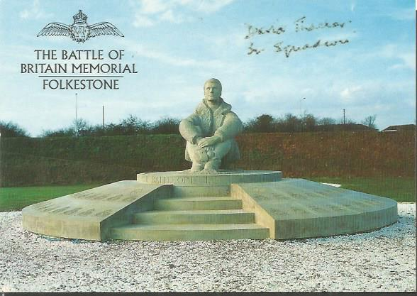 David Thacker signed Battle of Britain Memorial Fo