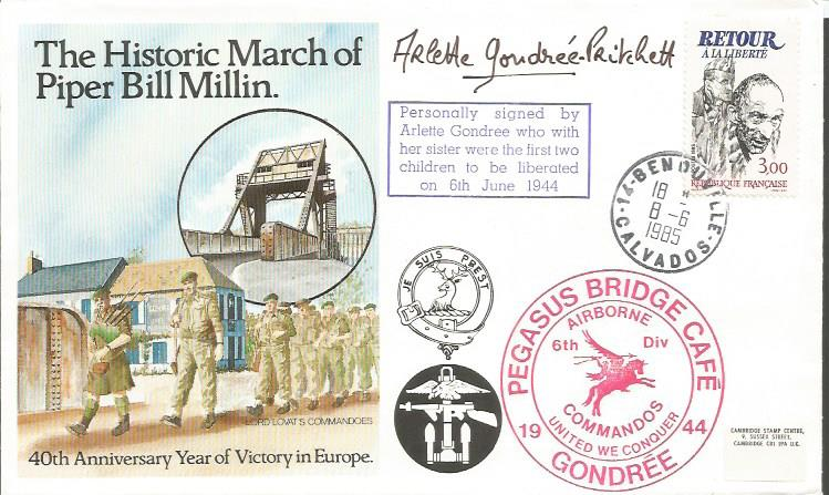 Arlette Gondree signed Historic March of Piper Mil