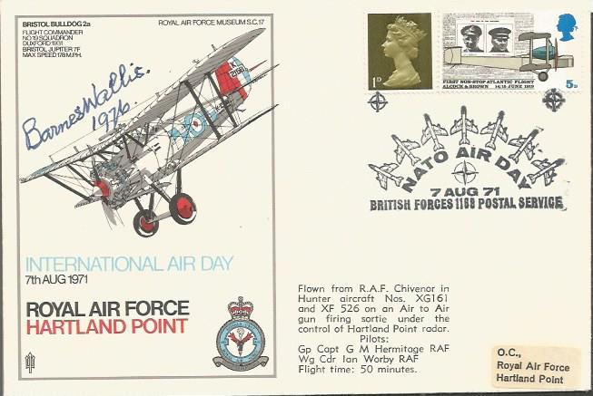Barnes Wallis signed RAF Hartland Point cover Good