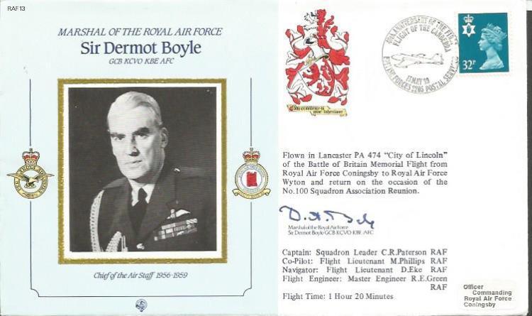 Sir Dermot Boyle signed on his own CDM13b cover Go