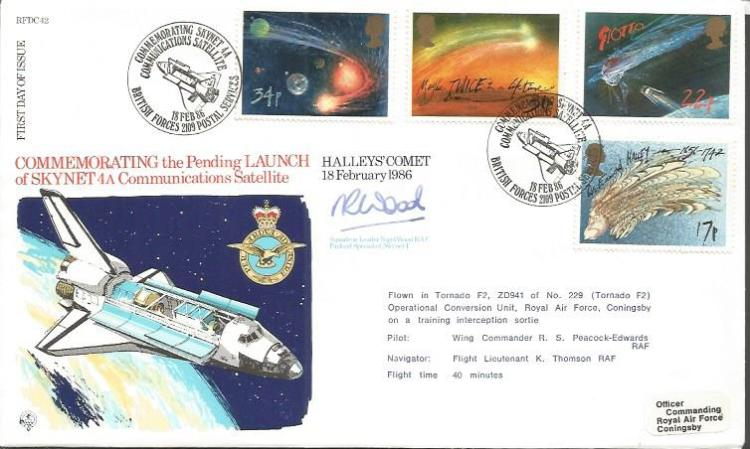 Sqdn Ldr Nigel Wood Astronaut signed FDC commemora