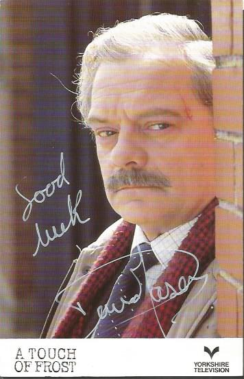David Jason signed Touch of Frost colour photo Goo