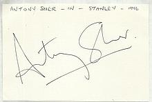 Sir Anthony Sher signed large autograph on white 6