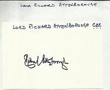 Lord Richard Attenborough signed large autograph