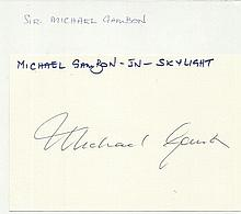 Sir Michael Gambon signed large autograph on white