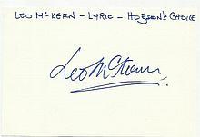 Leo McKern signed large autograph on white 6 x 4