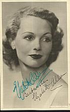 Elizabeth Allen signed vintage 6 x 4 sepia photo.