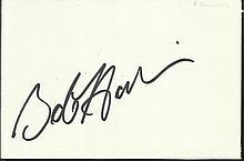 Bob Hoskins signed large autograph on white 6 x 4