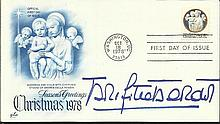 Brigitte Bardot signed 1978 US Christmas FDC with